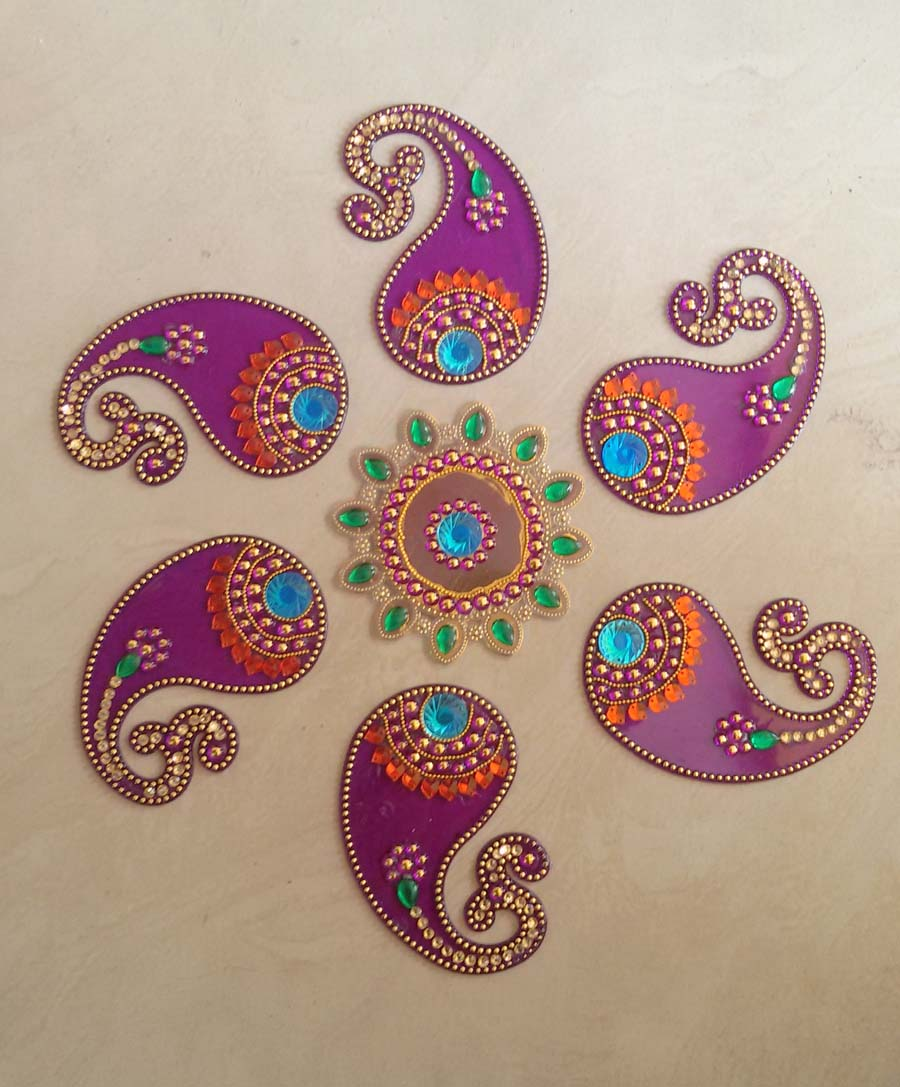 Reusable Stick On Rangoli Ideal For Diwali Decoration