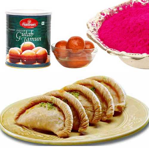 gujiya with sweets