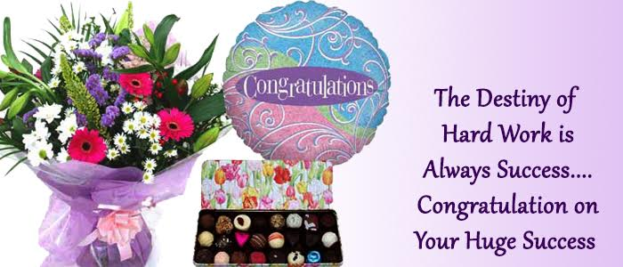 congratulations gifts and flowers