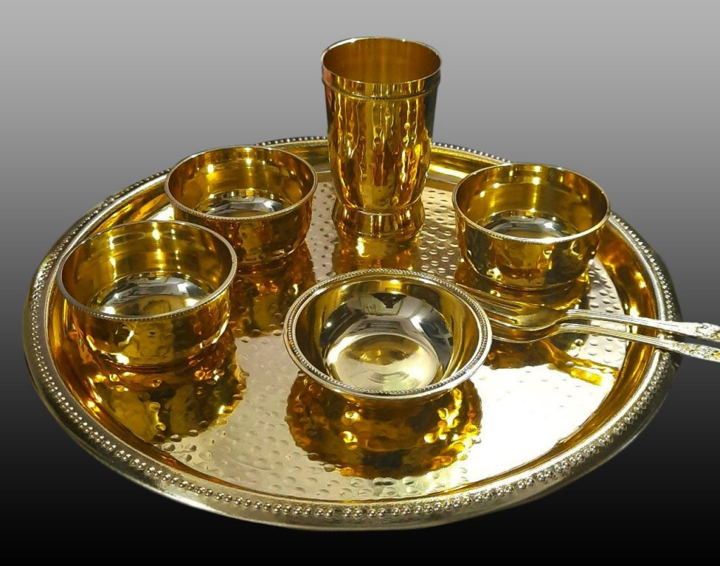 gold-plated-brass-dinner-thali-set