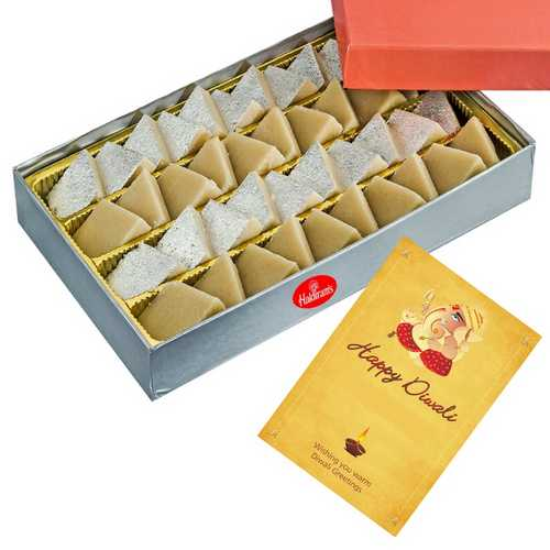 1kg Haldiram's Kaju Barfi with 1 Card for Diwali 2015