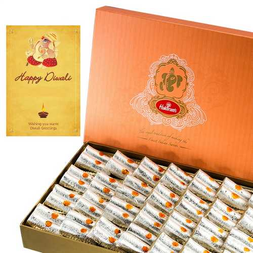 500g Haldiram's Kaju Roll with 1 Card for Diwali 2015