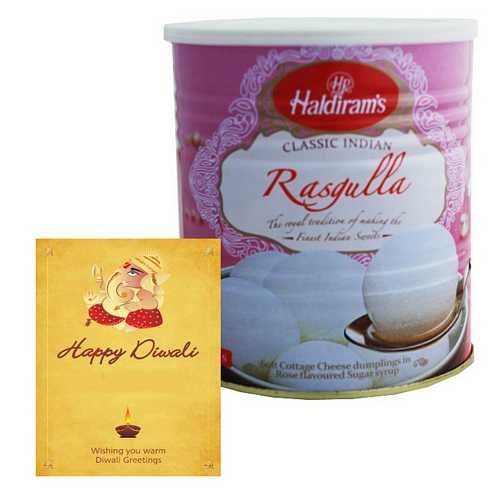 Haldiram's Rasgulla with 1 Card for Diwali