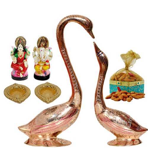 Hanso-ka-Joda, Laxmi Ganesha and Dry Fruits Potli