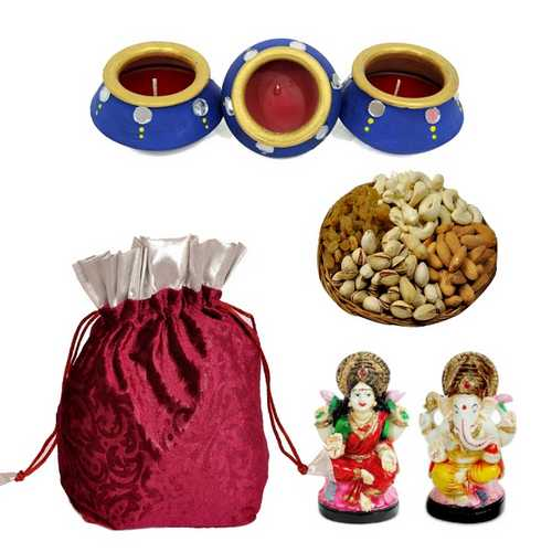 Diwali Hampers with Laxmi Ganesh Idols
