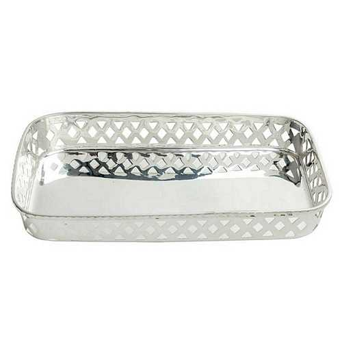 Silver Plated Brass Basket for Diwali and Dhanteras Gift