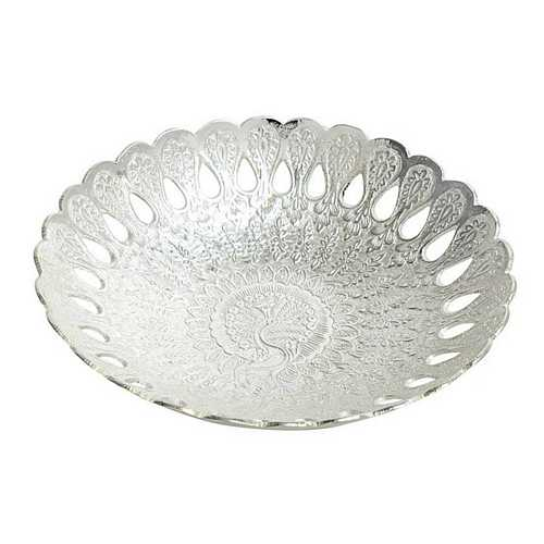 Silver Plated Brass Bowl for Diwali and Dhanteras Shopping