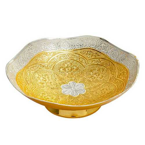 Gold Plated Brass Bowl for Dhanteras and Diwali Gift
