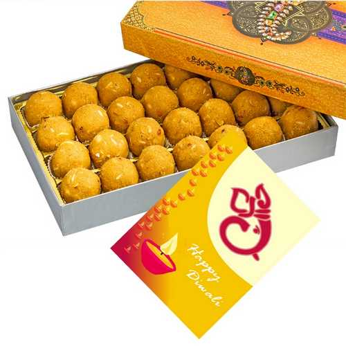 450g Besan Laddu with Diwali Card