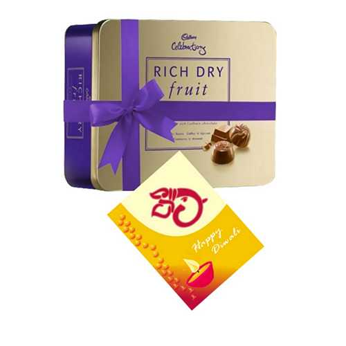 Cadbury Rich Dry Fruit Collection with 1 Diwali Card