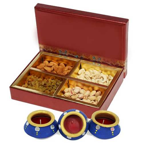 600g Mixed Dry Fruits Box with 3 Matki