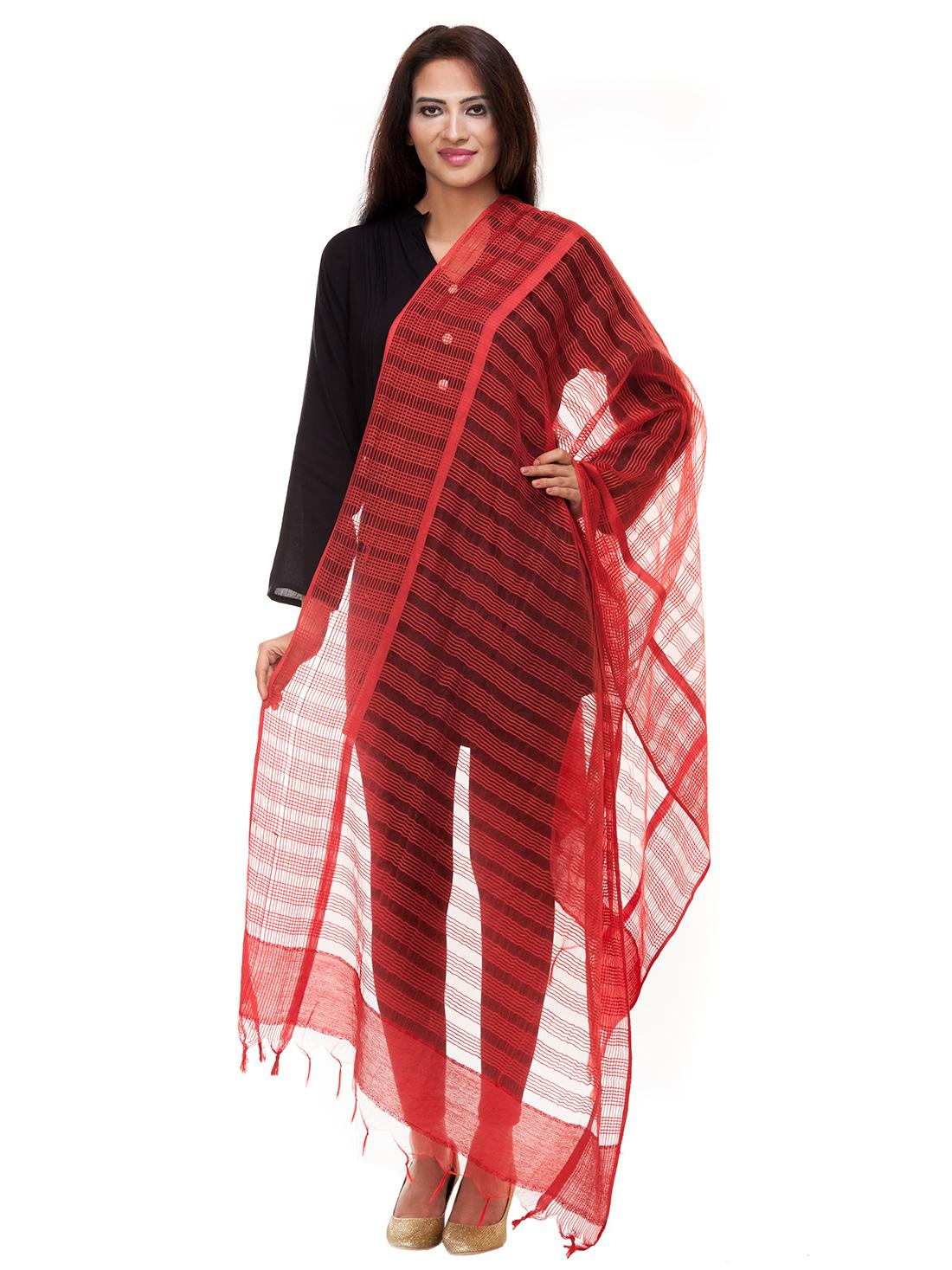 Red Stripped Fancy Dupatta