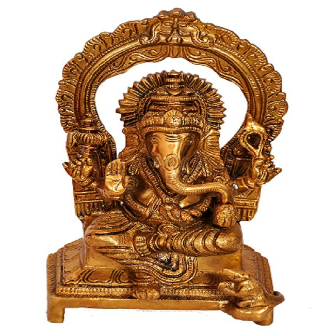 Ganesha Idol with Singhasan