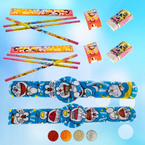 Doraemon Rakhi combo for Two Brothers