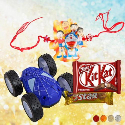 Cartoon Character Rakhi with Hot Wheel Racing Car