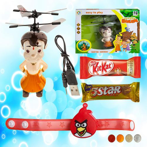 Angry Bird Rakhi with Chhota Bheem Induction Suspension Toy
