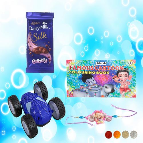 Bal Ganesha Rakhi with Hot Wheel Racing Car Combo