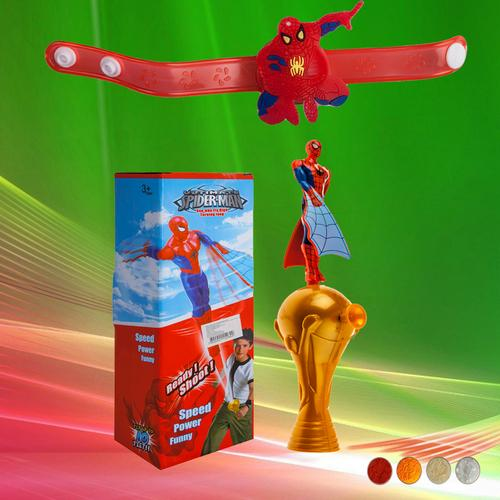 Spiderman Rakhi with Ready Shoot Toy