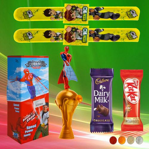 Ben10 Rakhis with Ready Shoot Toy Combo