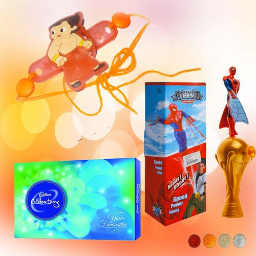 Chhota Bheem Rakhi with Ready Shoot Toy Combo