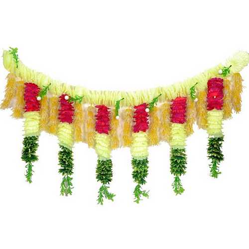 Yellow and Green Flower Door Hanging for Diwali Decoration