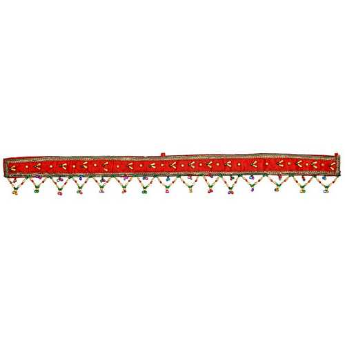 Alluring Red Strip Door Hanging for Diwali Decoration