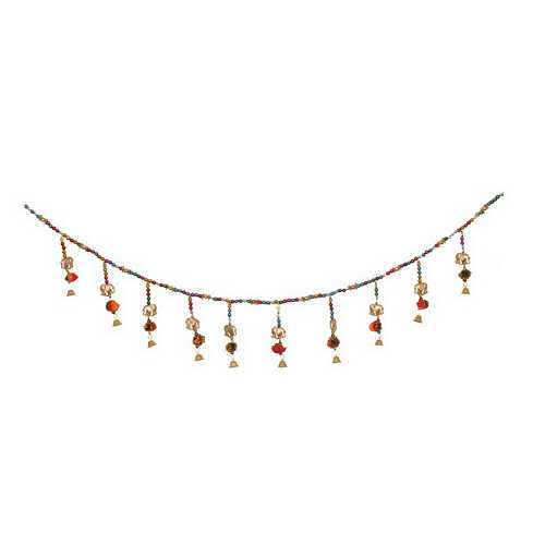 Multicolor Beads and Elephant Motif Toran for Diwali Decoration