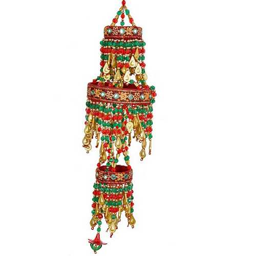 Multicolor Beads Fancy Jhumar for Diwali Decoration & Gift