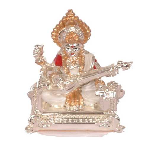 Silver Plated Goddess Sarswati Idol