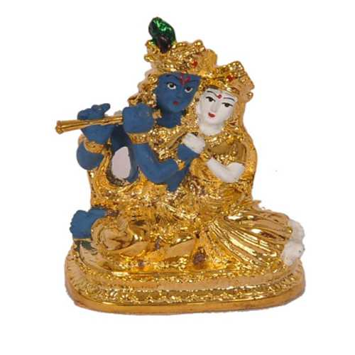 Gold Plated Radhe Krishna Idol
