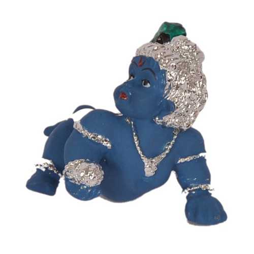 Silver Plated Laddu Gopal