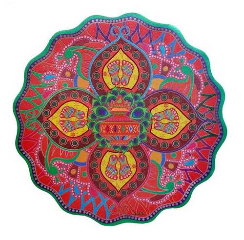Auspicious Rangoli Stickers - Set of 5