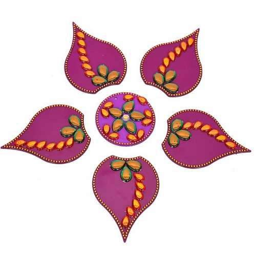 Stick-on Rangoli (Purple)