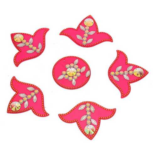 Stick-on Rangoli (Pink)