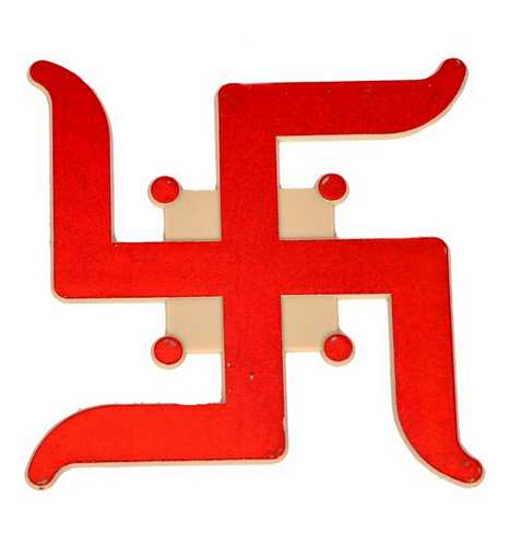 Auspicious Swastika Stickers - Set of 2