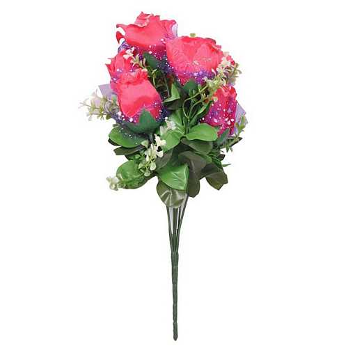 Bunch of Pink Roses for Diwali Gifts and Decoration