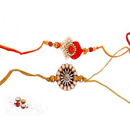 Premium Set of 2 Pearl Rakhis