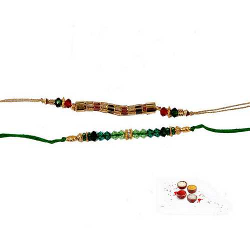 Awesome Twosome Fancy Rakhi Beads Set of 2