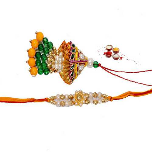 Beautiful Pair of Lumba Rakhi and Bhaiya Ki Rakhi