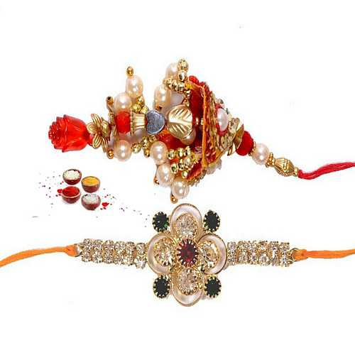 Premium Quality Rakhi Set for Bhaiya and Bhabhi