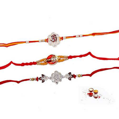 Set of 3 Premium Rakhi Threads
