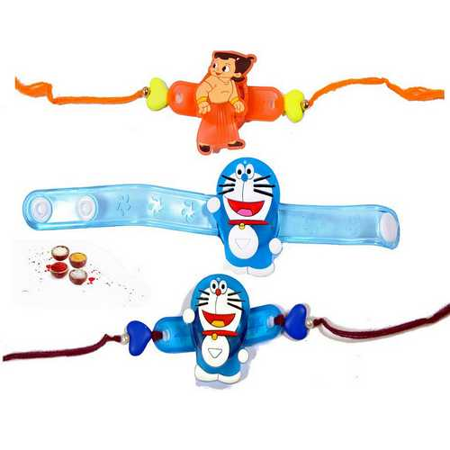 Cute 3 Rakhis for Chhotu Bhaiya
