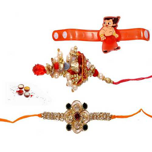 Family Set of 3 Premium Rakhis