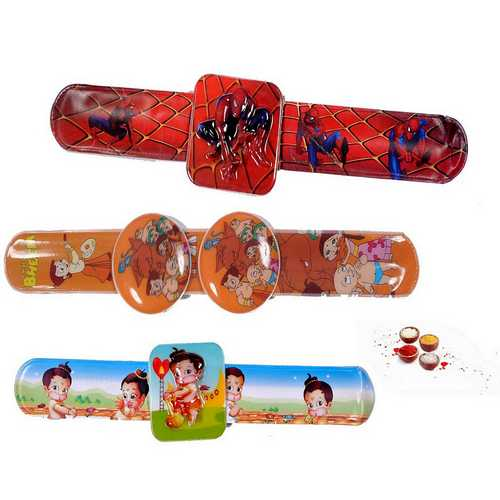 3 Fancy Cute Rakhis for Chhotu Bhaiya