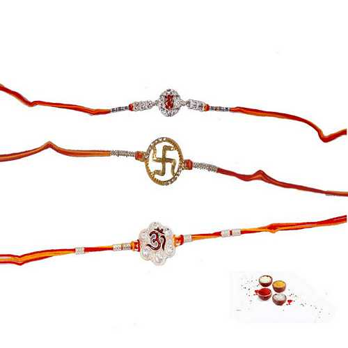 Set of 3 Divine Rakhi Threads