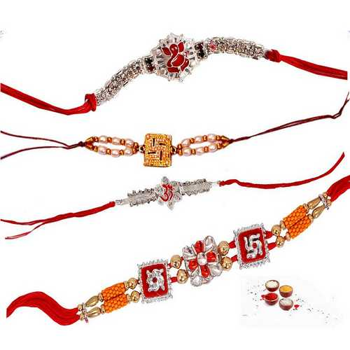 Set of 4 Auspicious Rakhis