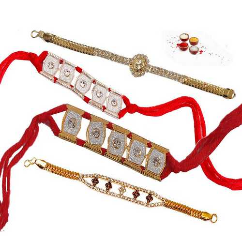 Set of 4 Bracelet Rakhis