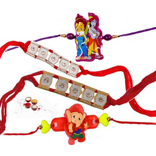 Bracelet and Kids Rakhi Combo