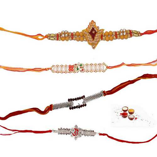 Set of 4 Premium Rakhis