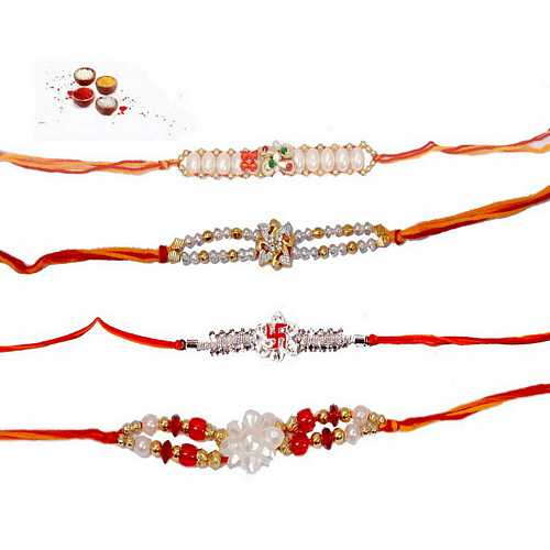 Elegant Rakhis Set of 4